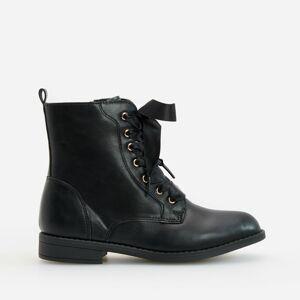 Reserved - Kotníkové boty zumělé kůže - Černý