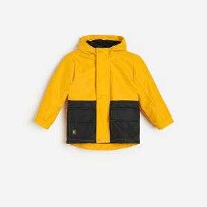 Reserved - Hřejivá bunda skapucí - Žlutá