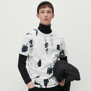 Reserved - Tričko s nápisy all over - Krémová