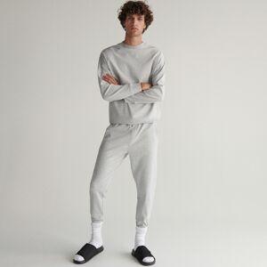 Reserved - Pyžamové kalhoty svysokým podílem bavlny - Světle šedá