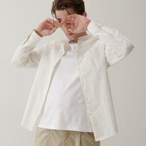 Reserved - Košile regular fit spříměsí lnu - Bílá