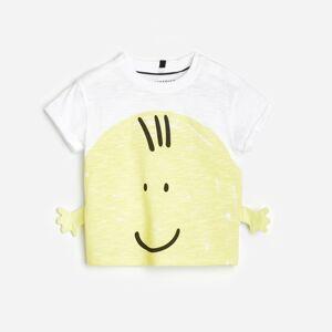 Reserved - Tričko s3D aplikací - Bílá