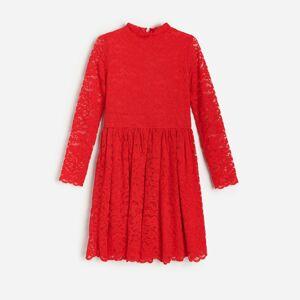 Reserved - Krajkové šaty - Červená