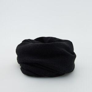 Reserved - Dutá šála s příměsí vlny - Černý
