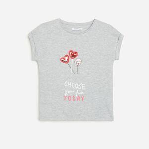Reserved - Bavlněné tričko s aplikací - Světle šedá