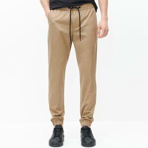 Reserved - Teplákové kalhoty joggers slim fit - Hnědá