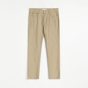 Reserved - Látkové kalhoty slim - Béžová