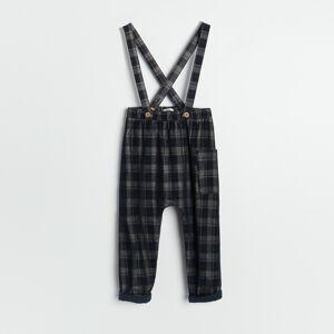 Reserved - Boys` trousers & suspenders - Tmavomodrá
