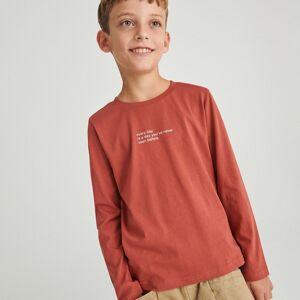 Reserved - Bavlněná košilka s potiskem - Červená
