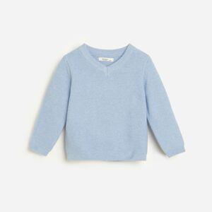 Reserved - Klasický svetr zorganické bavlny - Modrá