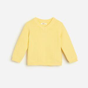 Reserved - Klasický svetr zorganické bavlny - Žlutá