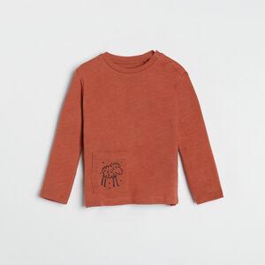 Reserved - Bavlněné tričko skapsou - Červená