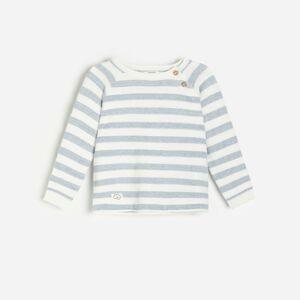 Reserved - Lehký bavlněný svetr - Modrá