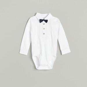 Reserved - BABIES` BODY SUIT & BOW TIE - Bílá