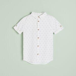 Reserved - Košile sdrobným potiskem - Bílá