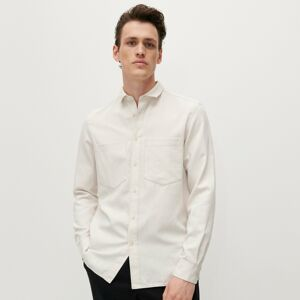 Reserved - Košile regular fit ze strukturované látky - Béžová