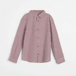 Reserved - Bavlněná kostkovaná košile - Červená