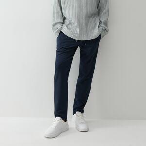 Reserved - Formální kalhoty JOGGER - Tmavomodrá