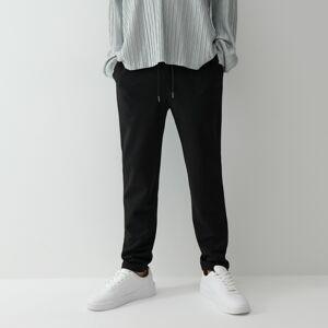 Reserved - Formální kalhoty JOGGER - Černý
