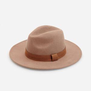 Reserved - Vlněný klobouk sširokou krempou - Béžová