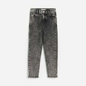 Reserved - Seprané džíny mom fit - Černý