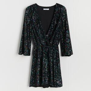 Reserved - Flitrové šaty - Vícebarevná