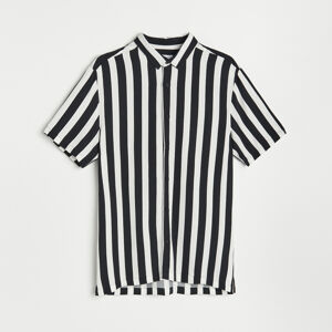 Reserved - Pruhovaná košile - Černý