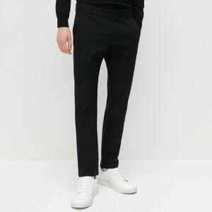 Reserved - Kalhoty chino slim cropped - Černý