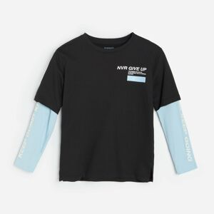 Reserved - Tričko s dvojitým rukávem - Černý