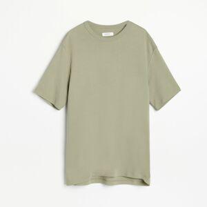Reserved - PREMIUM Hladké tričko zpima bavlny - Zelená