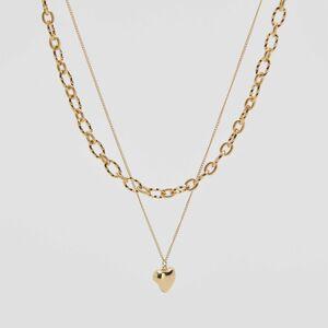 Reserved - Dvojitý náhrdelník spřívěskem - Zlatá