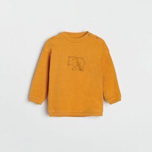 Reserved - Tepláková mikina s potiskem - Oranžová