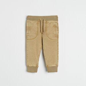 Reserved - Úpletové kalhoty jogger - Hnědá