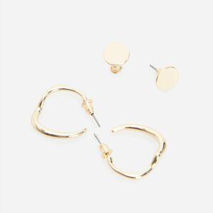 Reserved - Sada 2párů náušnic ve zlaté barvě - Zlatá