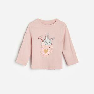 Reserved - Bavlněná košilka s potiskem - Růžová