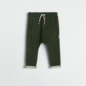 Reserved - Úpletové kalhoty - Zelená