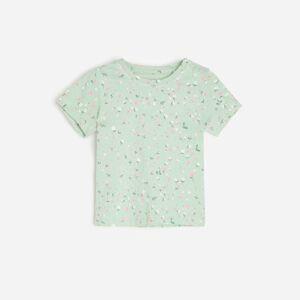 Reserved - Vzorované bavlněné tričko - Zelená