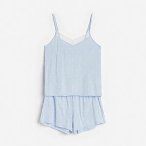 Reserved - Pyžamo se šortkami - Modrá