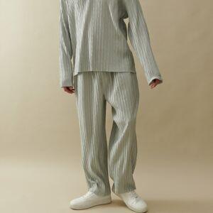 Reserved - Plisovaná kalhotová sukně - Světle šedá