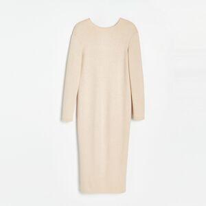 Reserved - Šaty z měkkého úpletu - Béžová