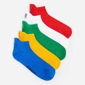 Reserved - Sada 5párů vzorovaných kotníkových ponožek Marvel - Bílá