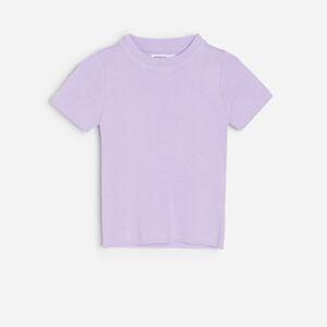 Reserved - Pletený svetr kratšího střihu - Fialová