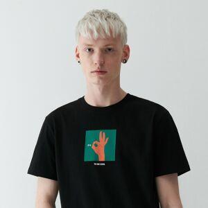 Reserved - Men`s t-shirt - Černý