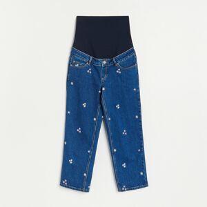 Reserved - Džíny typu culotte - Modrá