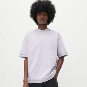 Reserved - Bavlněné tričko sdlouhými rukávy anápisy - Fialová
