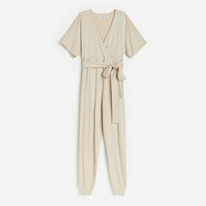 Reserved - Ladies` jumpsuit - Béžová
