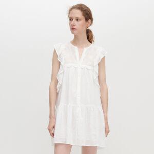 Reserved - Šaty s volánky - Bílá