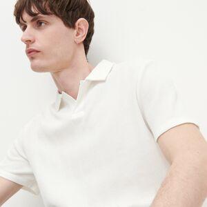 Reserved - Polo regular fit vyrobené ztexturovaného žerzeje - Bílá