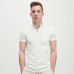 Reserved - Polo slim fit se stojáčkem - Bílá