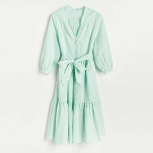 Reserved - Košilové midi šaty - Zelená